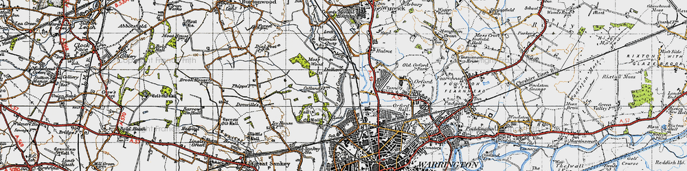 Old map of Dallam in 1947