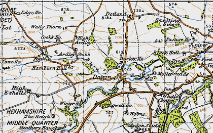 Old map of Barker Ho in 1947