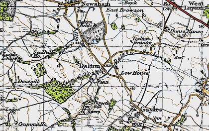 Old map of Dalton in 1947