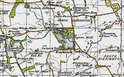 Old map of Windy Walls in 1947