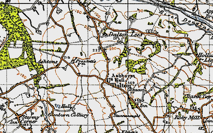 Old map of Ashurst's Hall in 1947