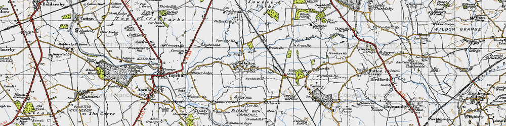 Old map of Westholme in 1947