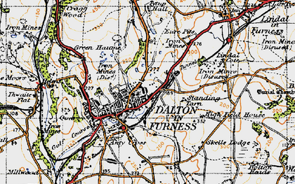 Old map of Dalton-In-Furness in 1947