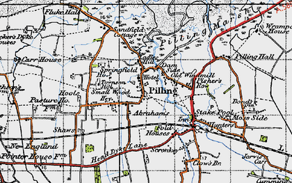 Old map of Lane Ends Amenity Area in 1947