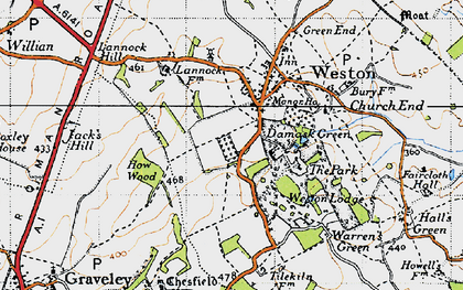 Old map of Lannock Hill in 1946