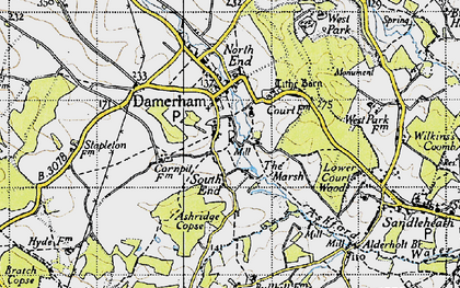 Old map of Ashridge Copse in 1940