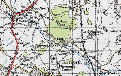 Old map of Damery in 1946