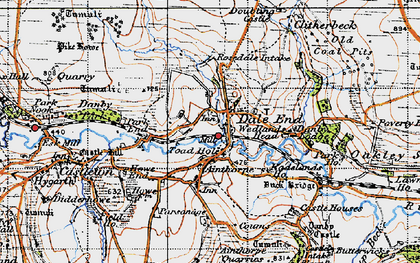 Old map of Danby in 1947