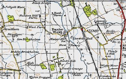 Old map of Wiske Moor in 1947