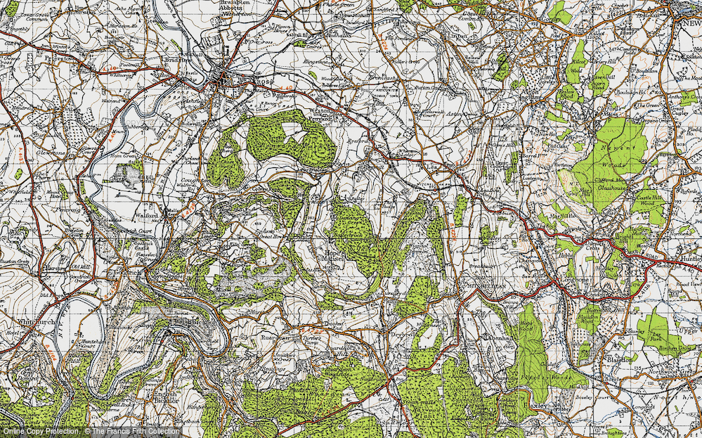 Old Map of Historic Map covering Baileybrook in 1947