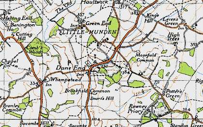 Old map of Dane End in 1946