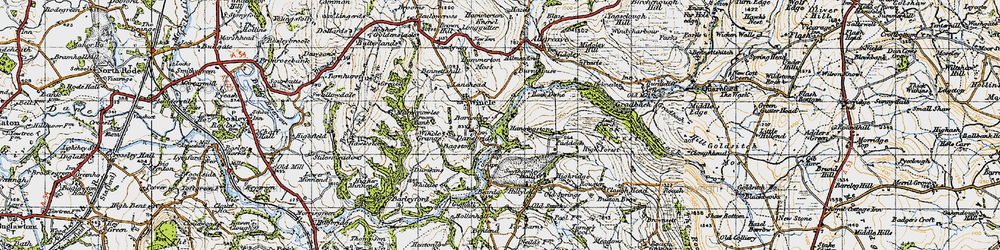 Old map of Allmeadows in 1947