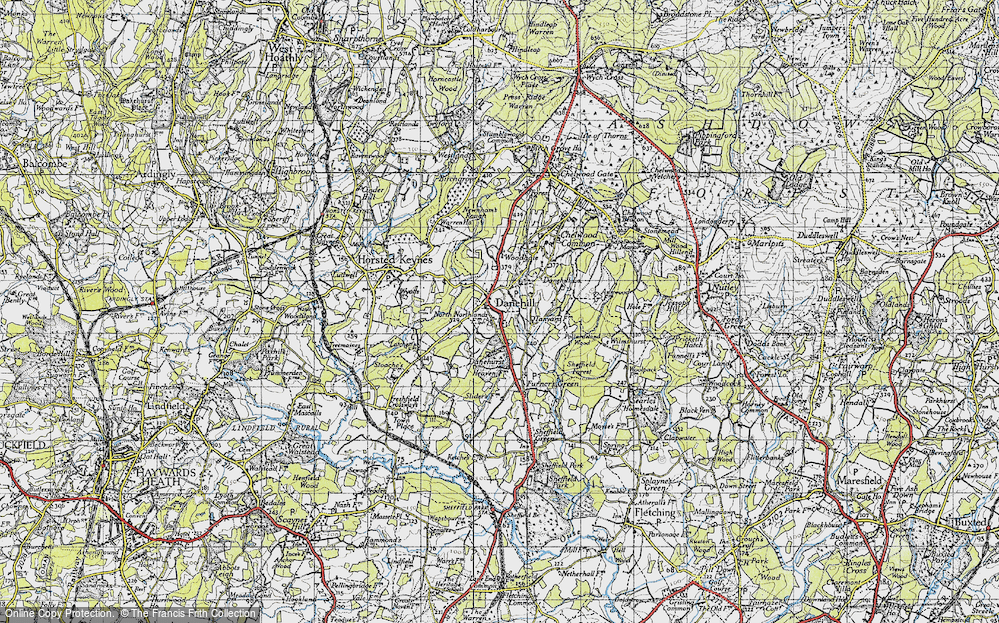 Old Map of Danehill, 1940 in 1940