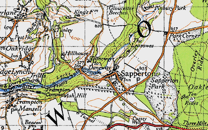 Old map of Daneway in 1947