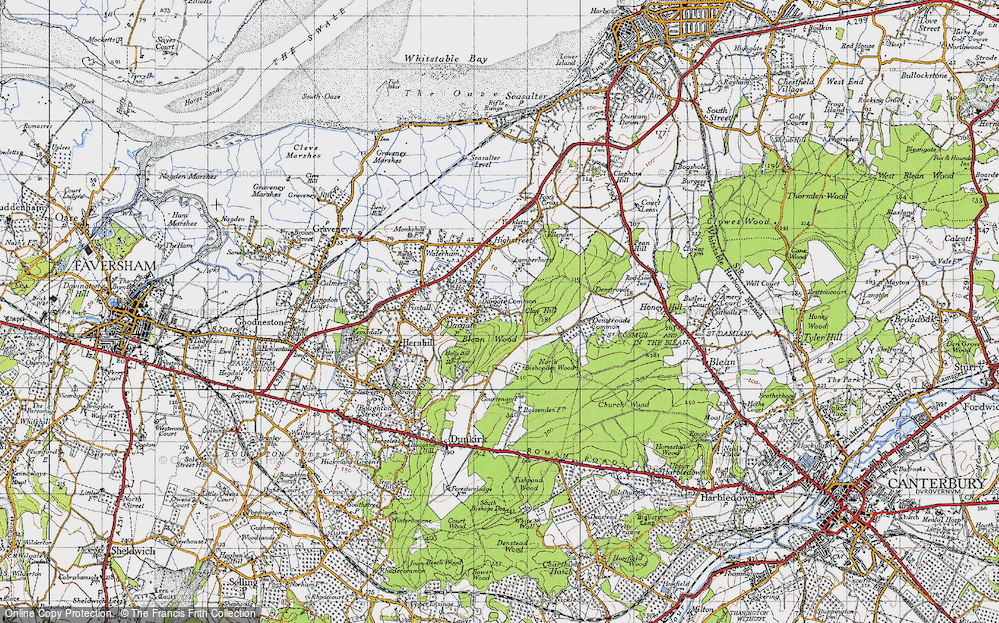 Old Map of Historic Map covering Acorn Cott in 1946