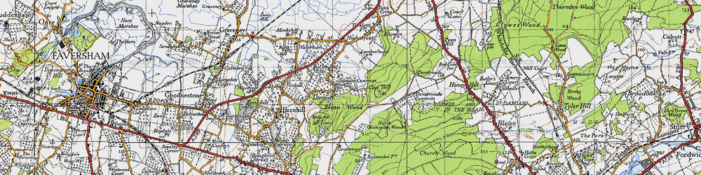 Old map of Acorn Cott in 1946