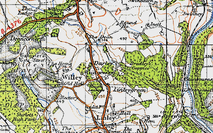 Old map of Ash Coppice in 1947