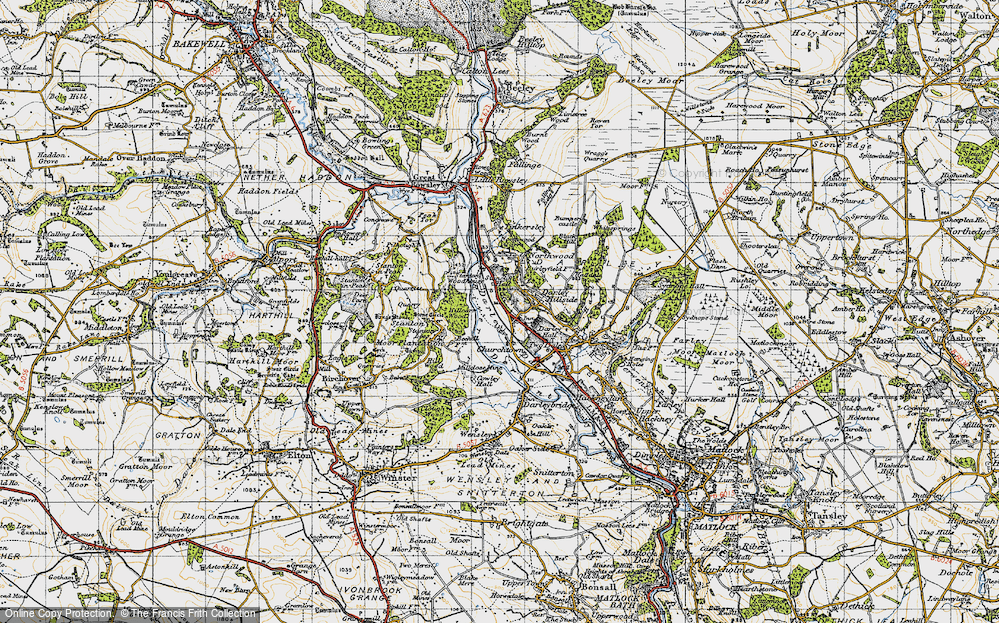 Old Map of Darley Dale, 1947 in 1947