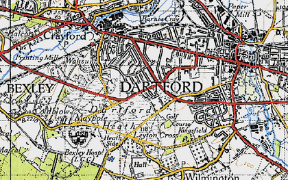 Old map of Dartford in 1946