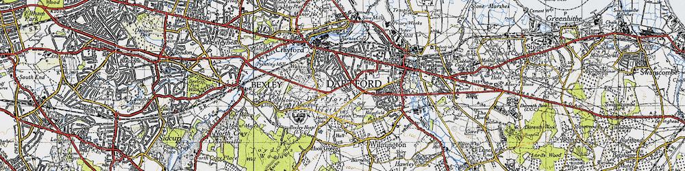 Old map of Dartford in 1946