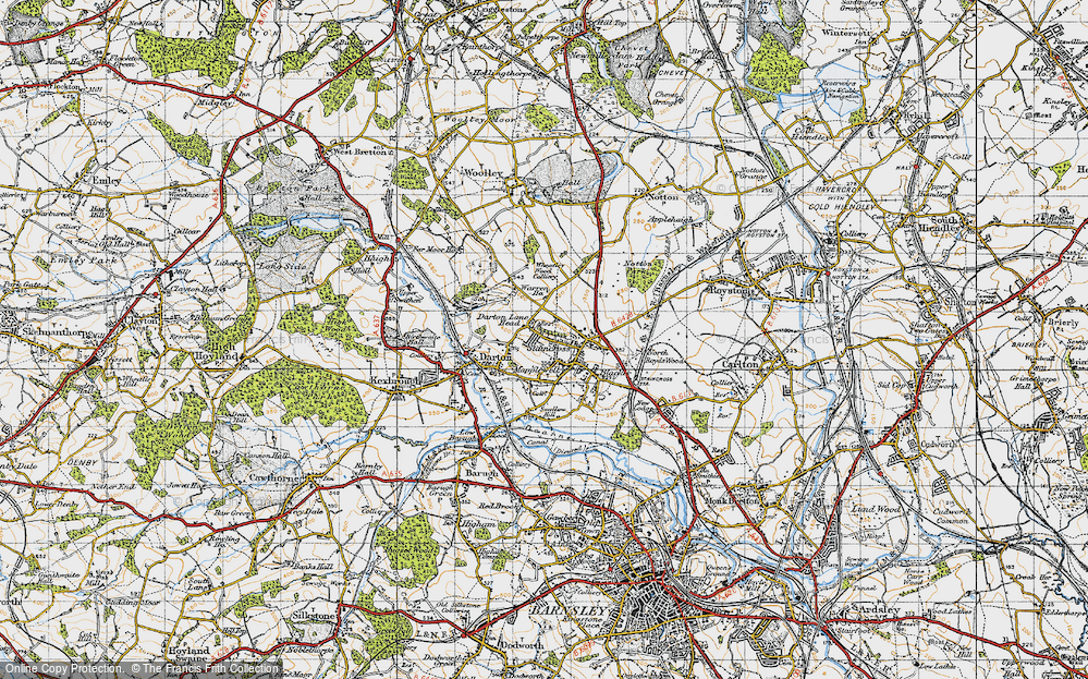 Old Map of Darton, 1947 in 1947
