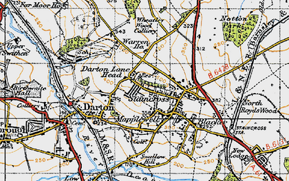 Old map of Darton in 1947