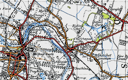 Old map of Datchet in 1945