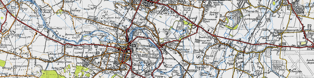 Old map of Romney Lock in 1945