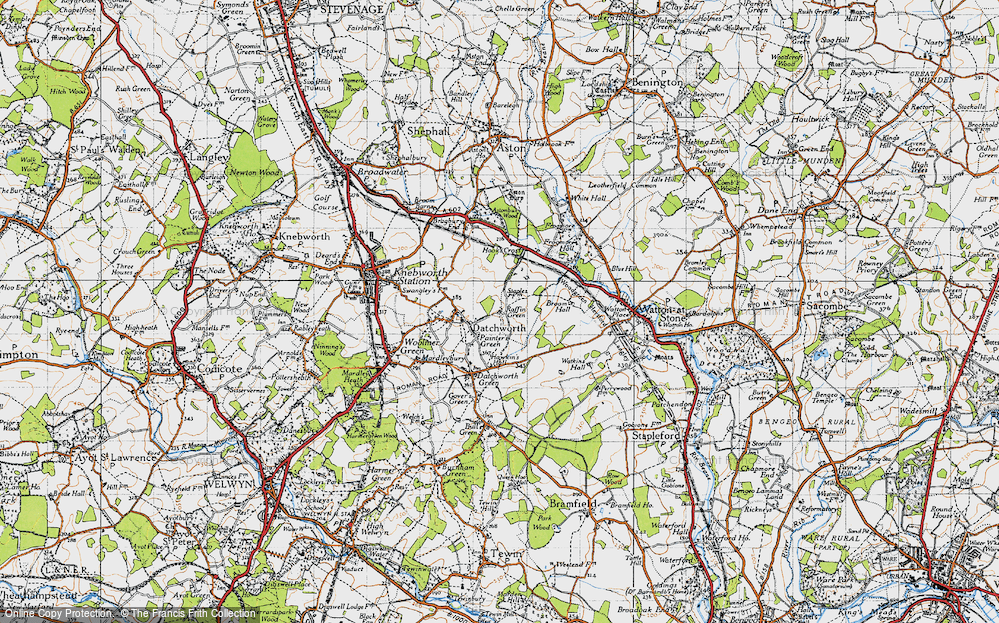 Old Map of Datchworth, 1946 in 1946