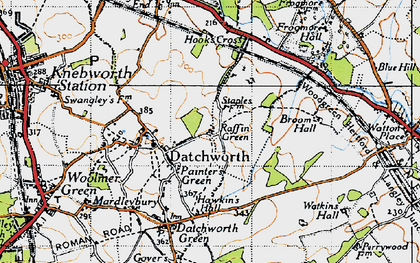 Old map of Datchworth in 1946