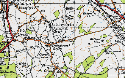 Old map of Datchworth Green in 1946