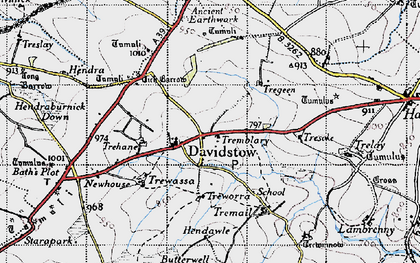 Old map of Davidstow in 1946