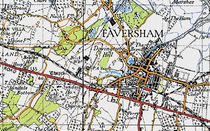 Old map of Davington in 1946