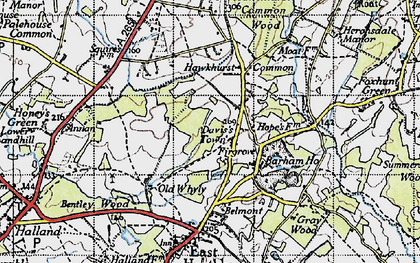 Old map of Barham Ho in 1940