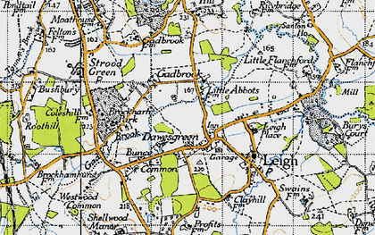 Old map of Leigh Place in 1940