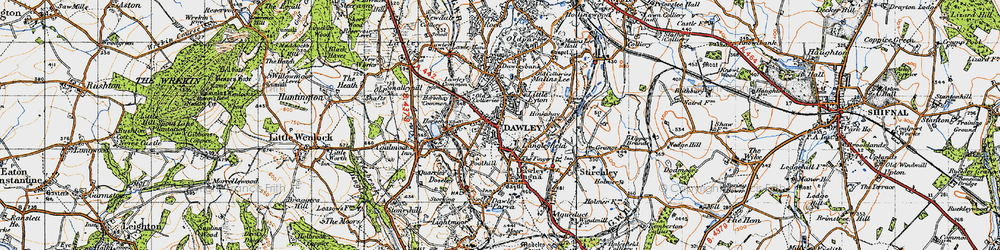 Old map of Dawley in 1947