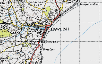Old map of Dawlish in 1946