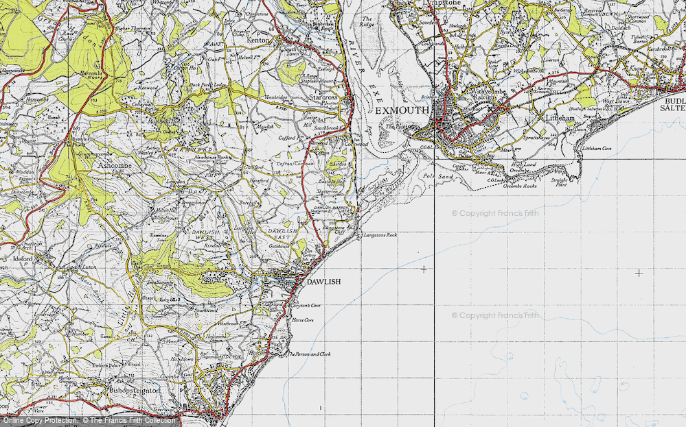Old Map of Historic Map covering Langstone Rock in 1946