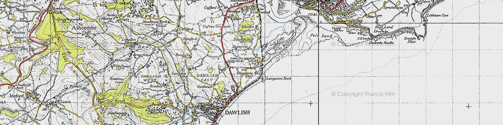 Old map of Langstone Rock in 1946