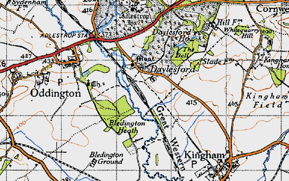 Old map of Daylesford in 1946