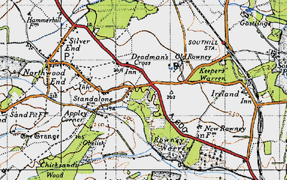 Old map of Appley Corner in 1946