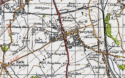Old map of Skibbereen in 1947