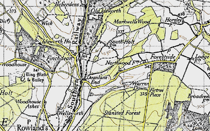 Old map of Idsworth in 1945