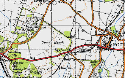 Old map of Deepdale in 1946