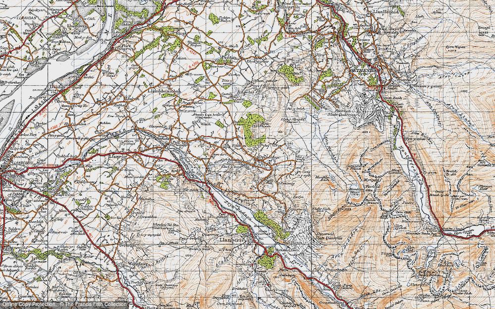 Old Map of Deiniolen, 1947 in 1947
