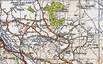 Old map of Deiniolen in 1947