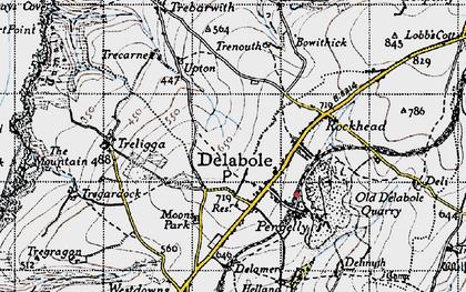 Old map of Delabole in 1946