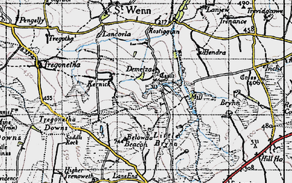 Old map of Demelza in 1946