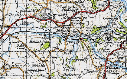 Old map of Bank End in 1946