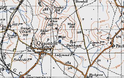 Old map of Denham in 1946
